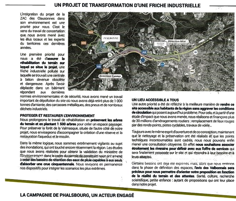 Compagnie Phalsbourg - Valbonne - Greenwashing