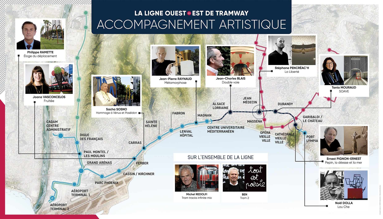 Nice Lignes Azur - Parcours artistique