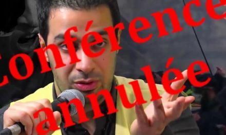 La conférence de Youssef Hindi est annulée
