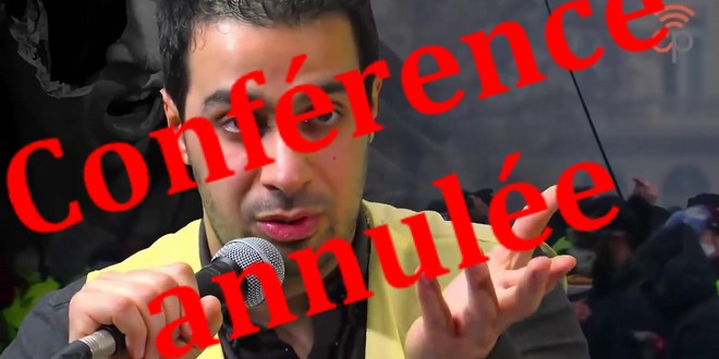 Youssef-Hindi - conférence annulée