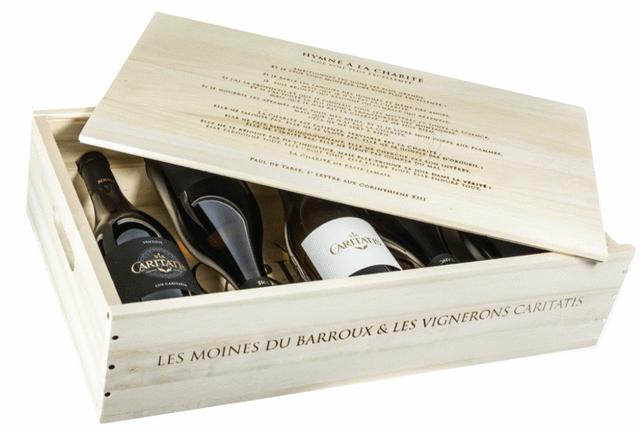 Abbaye Barroux - Coffret vin Via Caritatis