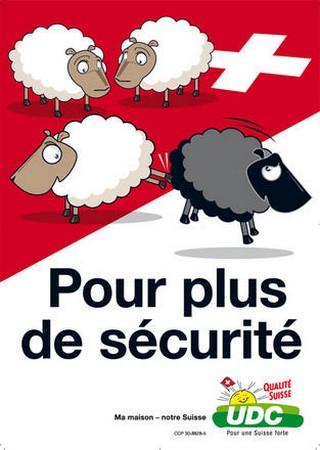 Affiche UDC - mouton noir