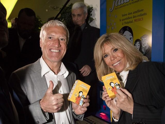 Brigitte Macron - pieces jaunes - Didier Deschamps
