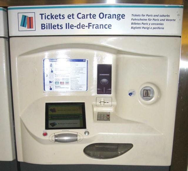 Guichet métro - automate
