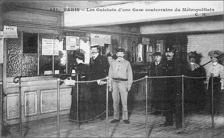 Guichet métro - rétro
