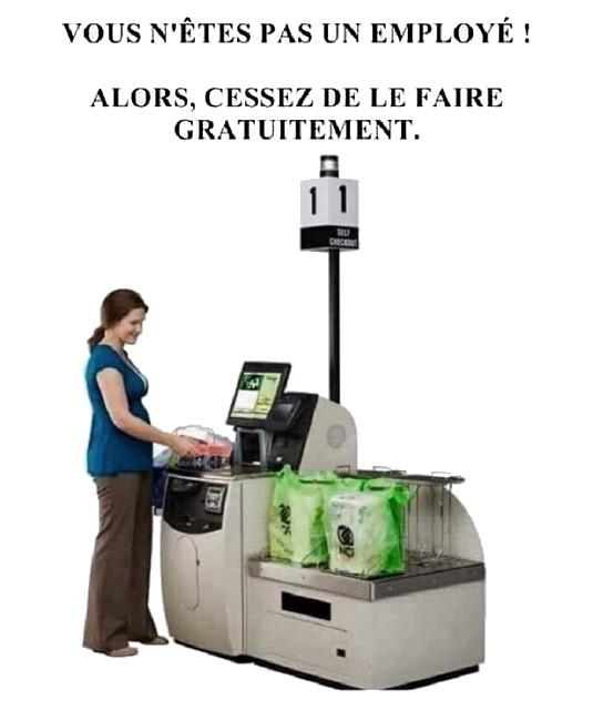 Magasin - caisse automatique