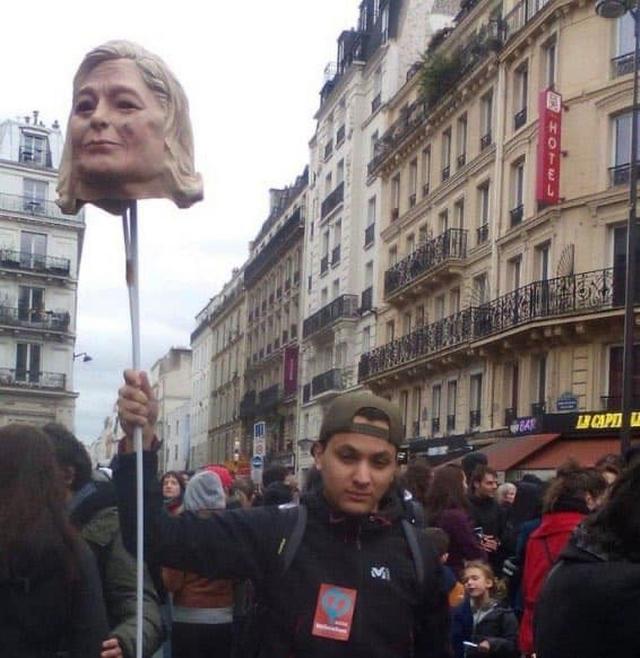 Taha Bouhafs - Tête Marine Le Pen