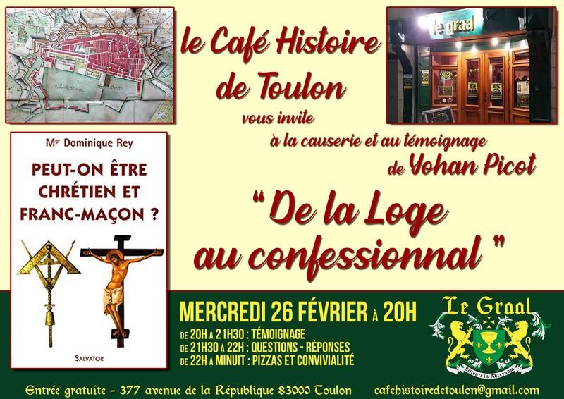 Café Histoire Toulon - 26 février 2020 - De la loge au confessionnal