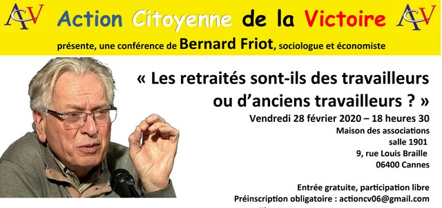 Conférence Bernard Friot