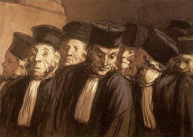 Honoré Daumier - Les Avocats - Caricature