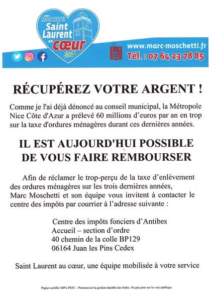 Moschetti - Saint-Laurent-du-Var - Récupérez votre argent