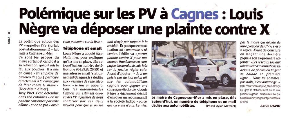 Nice-Matin - 19 février 2020 - PV Cagnes-sur-Mer