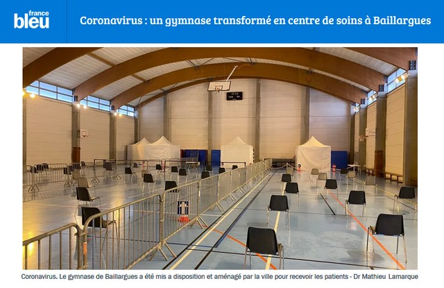 Baillargues - Gymnase transformé en hôpital