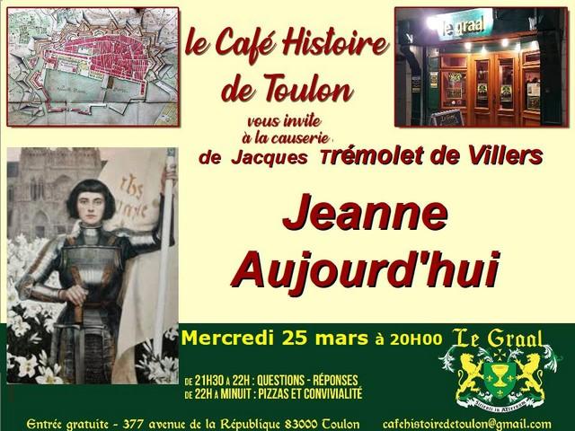 Café Histoire Toulon - Jeanne - 25 mars 2020
