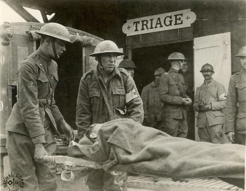 Hôpital militaire - tri médical