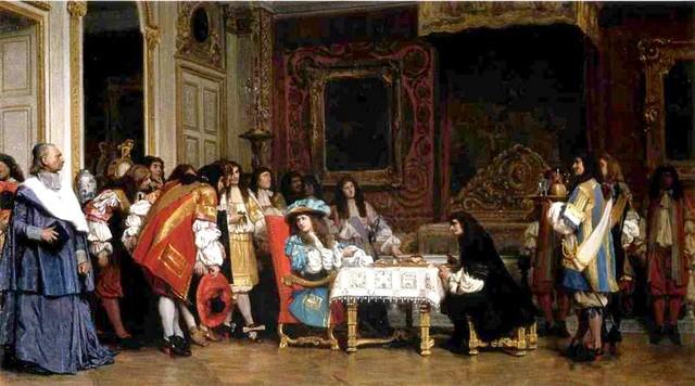 Louis XIV invitant Molière à partager son souper par Jean-Léon Gérôme (1862)