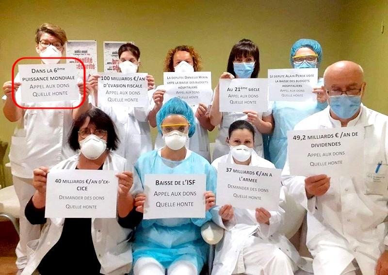 Infirmiers - honte - appel dons