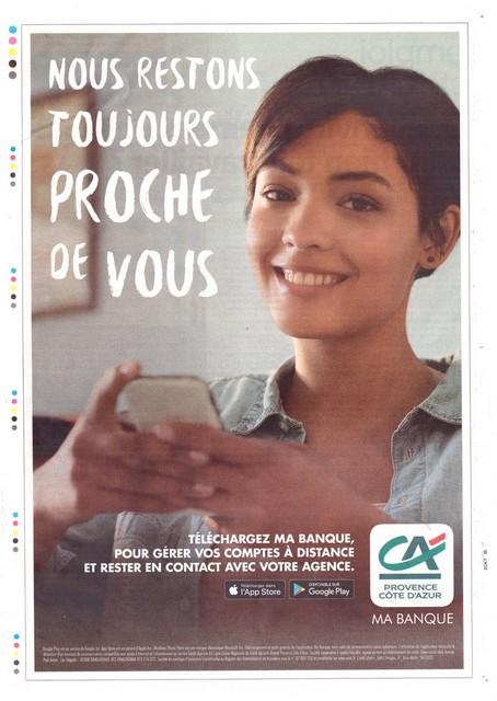 Nice-Matin - 6 avril 2020 - Crédit Agricole - proche de vous