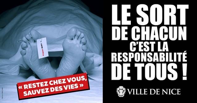 Ville Nice - Campagne restez chez vous