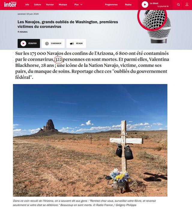 322 cases Covid Navajos