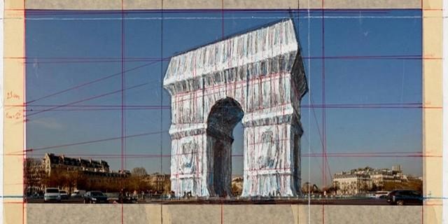 Arc Triomphe emballé Christo