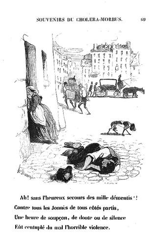 Honoré Daumier - Souvenirs Choléra Morbus 1840