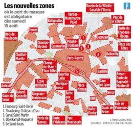 Paris - Zones masque