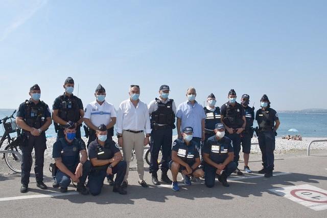 Police Cagnes-sur-Mer masquée