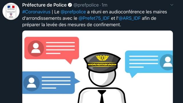 tweet Préfecture police Paris casquette francisque