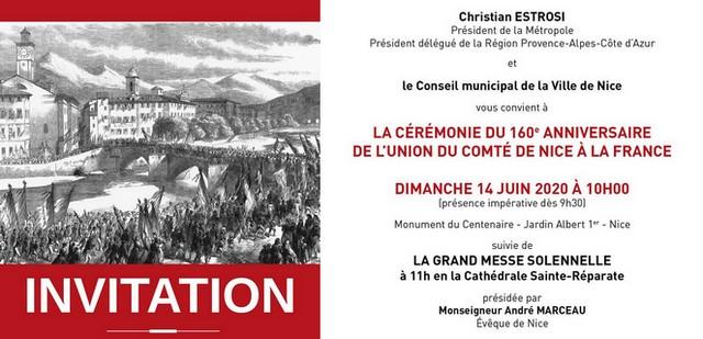 Cérémonie 160 anniversaire Annexion Nice France