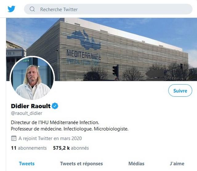 Didier Raoult - tweeter