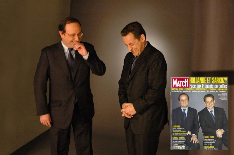 François Hollande - Nicolas Sarkozy - Paris Match