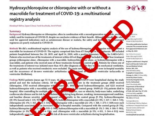 Lancet retracted