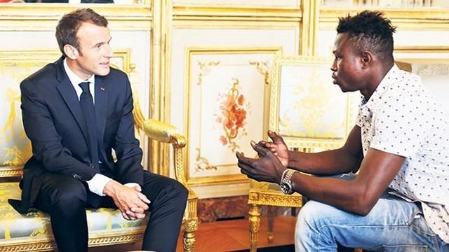 Mamoudou Gassama - Macron Élysée