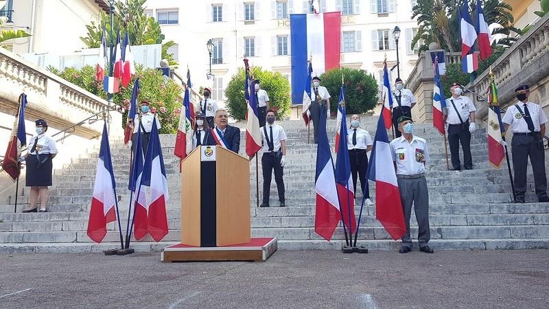 Cagnes-sur-Mer - Louis Nègre - discours intronisation - juillet 2020
