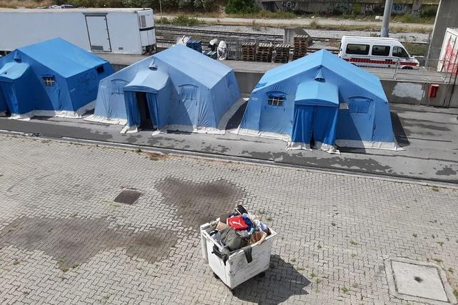 Camp immigrés clandestins Vintimille