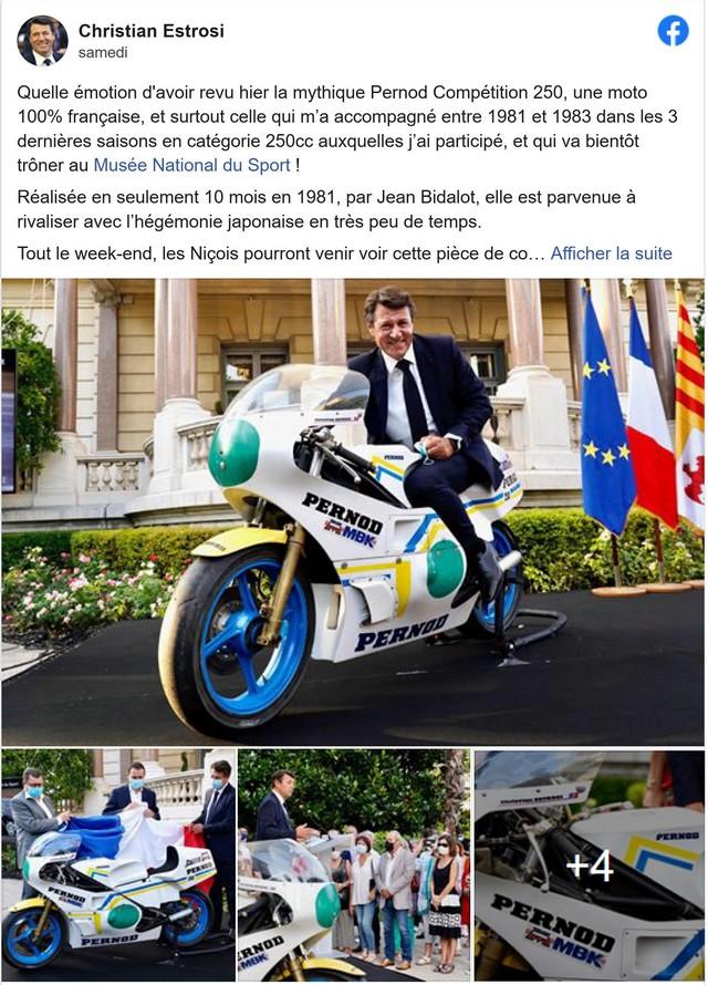 Christian Estrosi - moto - Juillet 2020