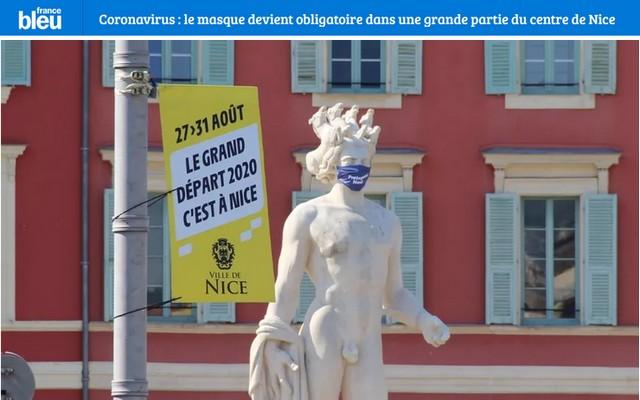 France Bleu 3 août 2020 - Place Masséna - David masqué