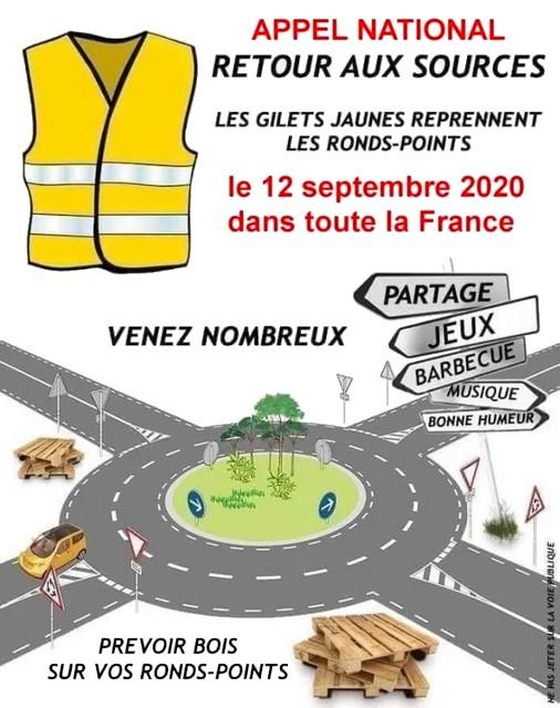 Gilets Jaunes - 12 septembre 2020