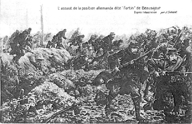 Guerre 14-18 - Assaut Beauséjour