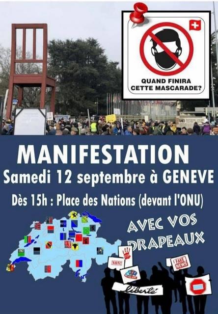 Manifestation anti-masque Genève - 12 septembre 2020