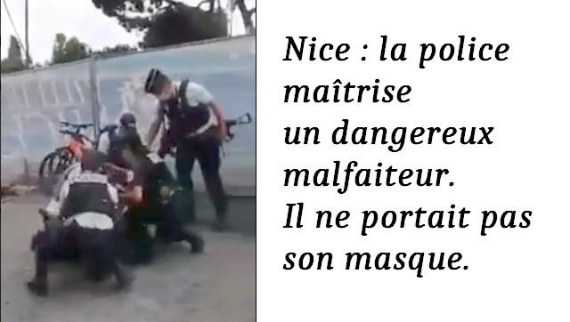 Nice Police masque