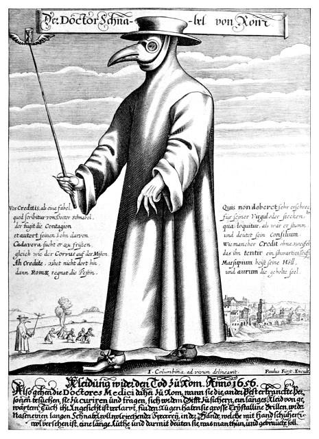 Paul Fürst Der Doctor Schnabel von Rom - masque anti-peste
