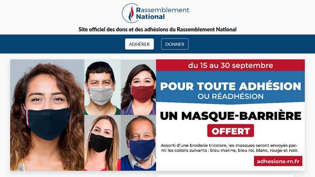 Rassemblement national - Couleur masque
