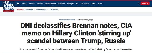 Foxnews - Hillary Clinton declassified