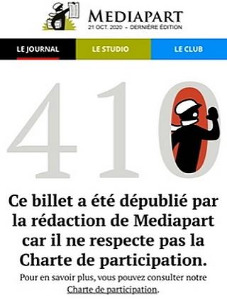 Médiapart - censure