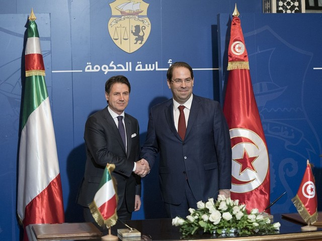 Youssef Chahed - Giuseppe Conte