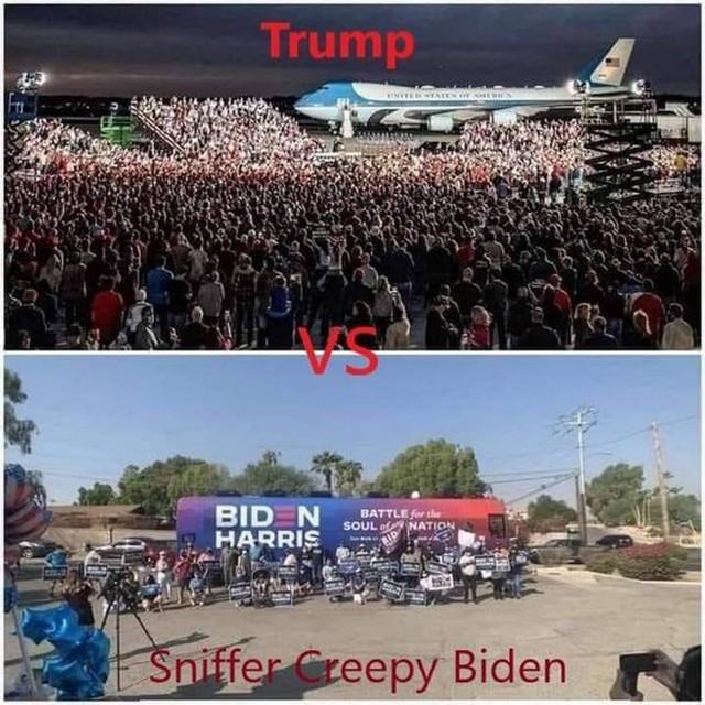 Élection présidentielle américaine 2020 Trump Biden - meetings électoraux