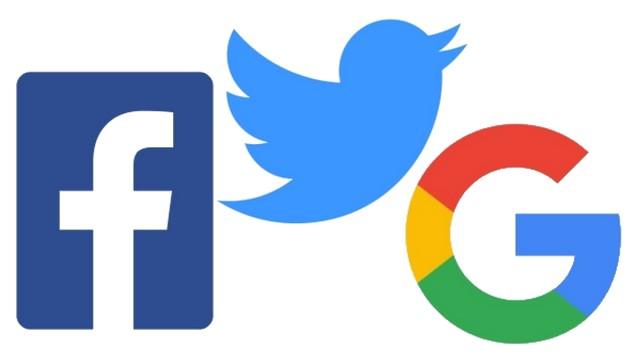 Facebook Tweeter Google