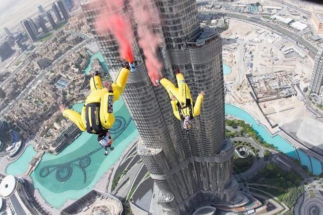 Fred Fugen - Vince Reffet - saut Dubaï